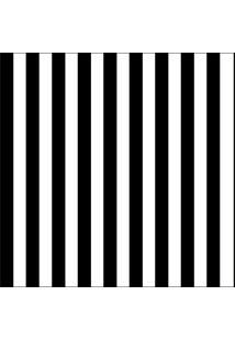 Papel De Parede Adesivo Listra Fina Preta E Branca (0,58M X 2,50M)