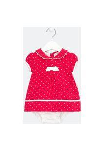 Vestido Body Infantil Estampado - Tam 0 A 18 Meses | Teddy Boom (0 A 18 Meses) | Rosa | 6-9M