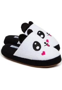 Pantufa Feminina Chinelo De Panda Quentinho 11000 - Kanui