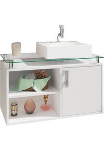 Gabinete De Banheiro Braga 1 Pt Branco