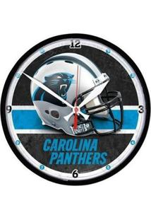 Relógio De Parede Nfl Carolina Panthers 32Cm - Unissex-Azul