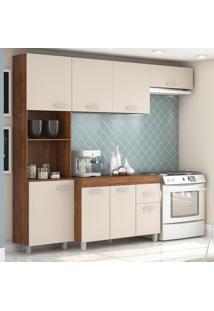 Cozinha Compacta 8 Portas 1 Gaveta Andressa 12899 Seda/Off White - Viero Móveis