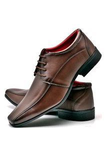 Sapato Social Fashion Com Cadarço Dubuy 804El Marrom