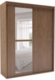 Guarda-Roupa Solteiro Sofisticato Com Espelho 2 Pt 3 Gv Ébano