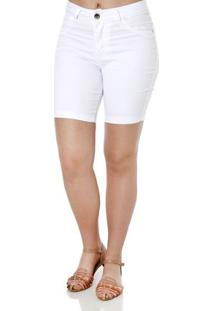 Bermuda Sarja Feminina Bivik Branco