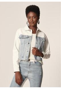 Jaqueta Jeans Com P.U Delave Mob Feminina - Feminino-Azul Claro