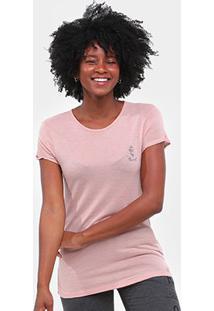 Camiseta Roxy Vintage In The Mirrors Long Feminina - Feminino-Rosa Claro