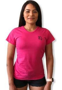 Camiseta Lobo Basic Feminina - Feminino-Pink