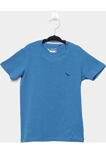 Camiseta Infantil Yachtmaster Básica Masculina - Masculino-Azul