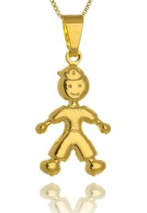 Colar Le Diamond Pingente Menino Dourado - Dourado - Feminino - Dafiti