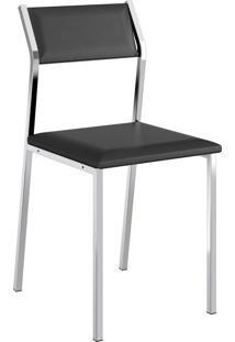 Kit 2 Cadeiras 1709 Napa Móveis Carraro Preto