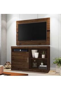 Rack Com Painel Para Tv Até 42 Polegadas 1 Porta Fenix Rustic - Móveis Germai