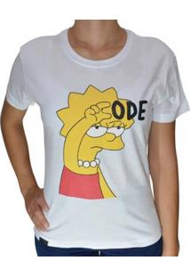 Camiseta Baby Look Code Fun Feminina - Feminino-Branco