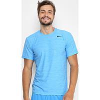 Camiseta Nike Breathe Ss Dry Masculina - Masculino-Azul+Preto 205034e7415ba