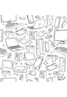 Papel De Parede Adesivo Eletrônicos