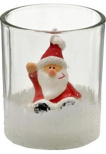 Vela No Copo Papai Noel- Branca & Vermelha- 7,5Xã˜6Cmmabruk