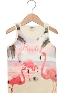 Regata Para Menina Algodao Flamingo infantil  6943dd114dfb9