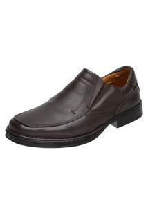 Sapato Doctor Pé Conforto Autêntico Couro De Carneiro Café 77001 Marrom/Café