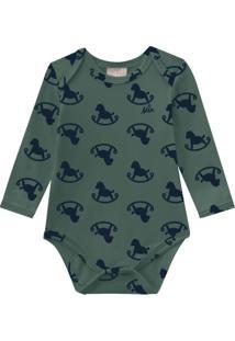 Body Bebê Masculino Verde