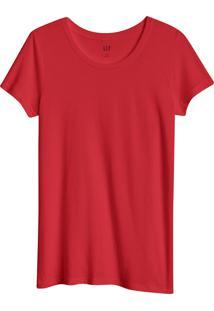 Camiseta Gap Básica Vermelha