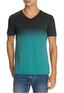 Camiseta Ckj Mc Degrade - Verde - Pp