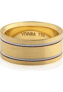 Aliança De Casamento Ouro Amarelo E Ouro Branco
