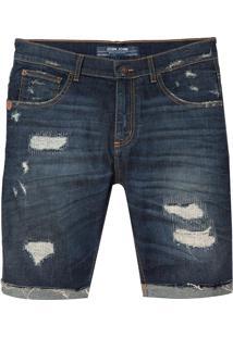 Bermuda John John Clássica Paranaguá Jeans Azul Masculina (Jeans Escuro, 42)