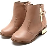 092f20b9a Bota Para Menina Moleka Nude infantil   Shoes4you