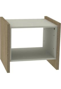 Mesa Lateral Oriental Natural E Off White