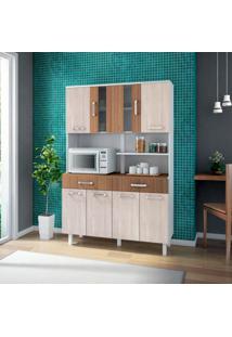 Cozinha Compacta Atenas 8 Pt 2 Gv Branco, Elmo E Montana