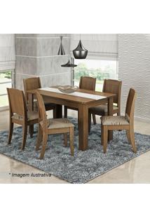 Conjunto De Mesa & Cadeiras Bárbara Para 6 Lugares- Savacimol