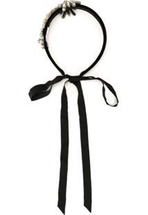 Dice Kayek Headband Com Aplicações - Preto