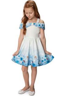 Vestido Azul Claro Ciganinha Cinderela