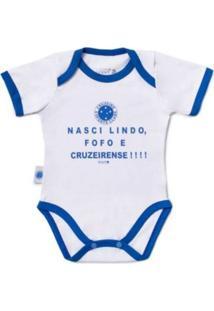 """Body Reve D'Or Sport """"""""Nasci Lindo..."""""""" Cruzeiro Branca E Azul"""