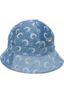 Marine Serre Chapéu Com Estampa - Azul