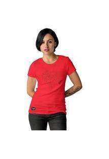 Camiseta Feminina Cellos Heart Premium Vermelho