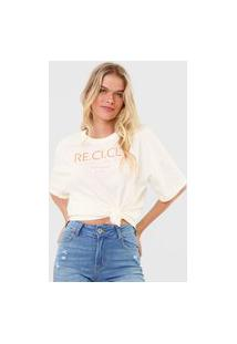 Camiseta Colcci Recicle Off-White