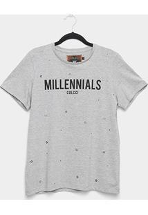 Camiseta Colcci Millennials Ilhós Feminina - Feminino