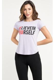 T-Shirt Manola Believe Feminina - Feminino-Lilás