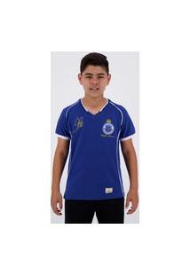 Camisa Cruzeiro Retrô Tríplice Coroa 2003 Juvenil