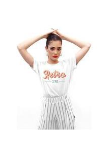 Camiseta Feminina Mirat Retro Style Branco