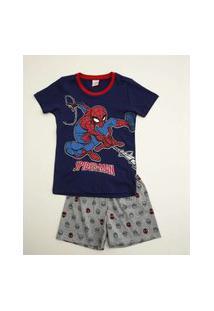 Pijama Infantil Manga Curta Homem Aranha Marvel Tam 4 A 10