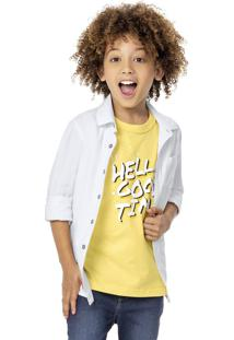Camisa Com Bolso Menino Malwee Kids