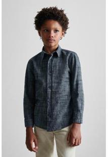 Camisa Masculina Infantil Mini Pf Ml Ft Brasa Reserva Mini - Masculino-Preto