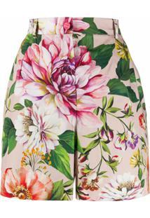 Dolce & Gabbana Short Com Estampa Floral - Rosa