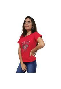 Camiseta Feminina Cellos Iron Knuckle Premium Vermelho