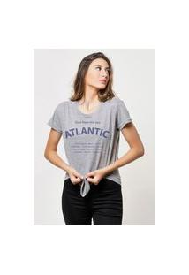 Camiseta Jay Jay Básica Atlantic Soul Cinza Mescla