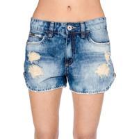 f0060258f Shorts Jeans Destroyed Colcci - Feminino-Azul