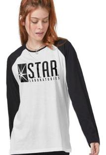 Camiseta Manga Longa Feminina The Flash Série Star Laboratories - Feminino