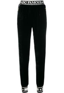 Dolce & Gabbana Piped Logo Track Pants - Preto